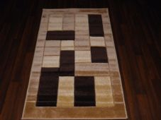 Modern New Rug Approx 5x2ft6 80x150cm Woven Thick best around ,Blocksbeiges
